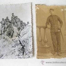 Militaria: PAREJA DE FOTOGRAFIAS MILITARES - SOLDADO DE INFANTERÍA. Lote 35049477