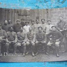 Militaria: ANTIGUA FOTOGRAFIA POSTAL PRIMERA 1ª GUERRA MUNDIAL - SOLDADOS FRANCESES - MUY BONITA - ESCRITA -. Lote 35053736
