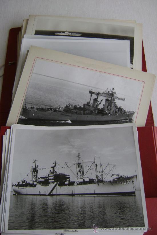 COLECCION DE CINCUENTA Y OCHO FOTOGRAFIAS DE BARCOS DE GUERRA ESTADOUNIDENSES.M535 (Militar - Fotografía Militar - II Guerra Mundial)