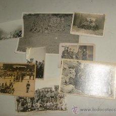 Militaria: LOTE DE ANTIGUAS FOTOS MILITARES. Lote 35389982