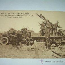Militaria: ANTIGUA POSTAL....UN ARCHIE EN ACCION...ARTILLERIA CONTRA AVIONES.. Lote 35397078