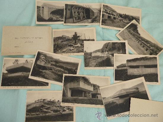 CINTURON DE HIERRO ..BILBAO..SERIE DE 12 ..EPOCA GUERRA CIVIL...... (Militar - Fotografía Militar - Guerra Civil Española)