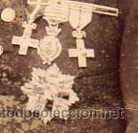 Militaria: Fotografia Luciano Carranza medico militar muy condecorado. Merito militar, etc. L. Mouton Madrid. - Foto 2 - 35434810