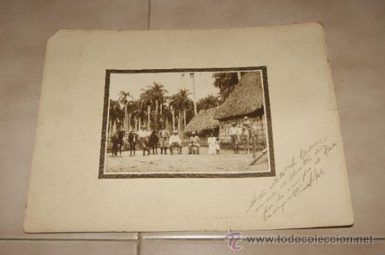 ANTIGUA FOTOGRAFIA DE MILITARES, CUBA, DEDICADA DE 1920. (Militar - Fotografía Militar - Otros)