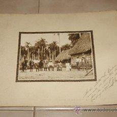 Militaria: ANTIGUA FOTOGRAFIA DE MILITARES, CUBA, DEDICADA DE 1920.. Lote 35661259