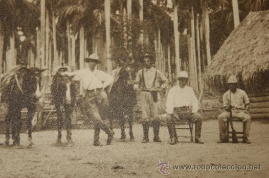 Militaria: Antigua fotografia de militares, cuba, dedicada de 1920. - Foto 3 - 35661259