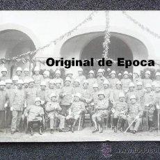 Militaria: (JX-663)FOTOGRAFIA DE GRUPO DE JEFES Y OFICIALES CON SALACOF,CAMPAÑA DE AFRICA. Lote 35611373