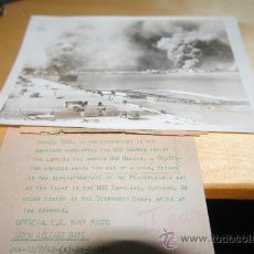 Militaria: FOTOGRAFIA DE AGENCIA. ATAQUE A PEARL HARBOR 7 DE DICIEMBRE DE 1941. 23,5X17,5CM. Lote 35805058