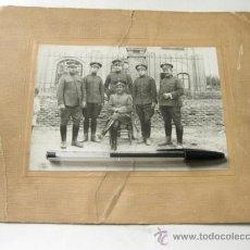 Militaria: FOTOGRAFIA DE INTENDENCIA - EPOCA ALFONSO XIII - AÑOS 20. Lote 36113385