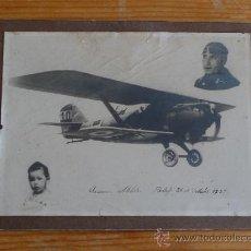Militaria: PRECIOSA FOTOGRAFIA DE AVIACION MILITAR, AVIADOR EN GETAFE 1927. Lote 36143353