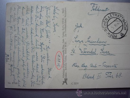 Militaria: POSTAL ALEMANA ENVIADA DESDE EL FRENTE 1-11-1942 - Foto 2 - 36145960