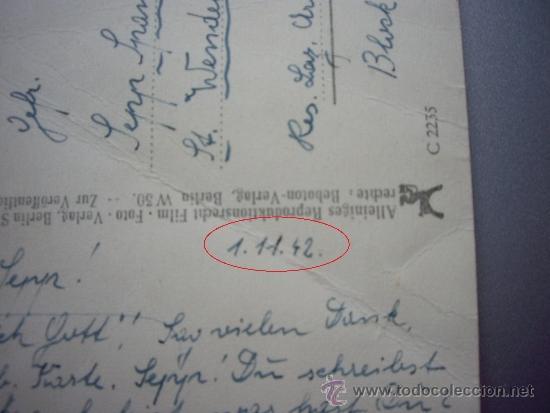 Militaria: POSTAL ALEMANA ENVIADA DESDE EL FRENTE 1-11-1942 - Foto 3 - 36145960