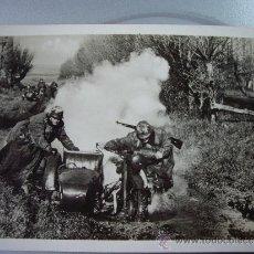 Militaria: POSTAL ALEMANA ESCUADRA RECONOCIMIENTO BMW O ZÜNDAPP. Lote 36146307