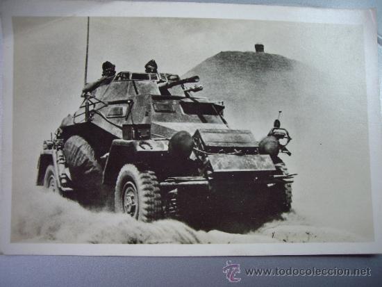 POSTAL ALEMANA VEHICULO BLINDADO SDKFZ 222 (Militar - Fotografía Militar - II Guerra Mundial)