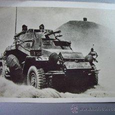 Militaria: POSTAL ALEMANA VEHICULO BLINDADO SDKFZ 222. Lote 36147567