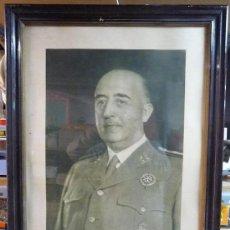 Militaria: CUADRO FOTOGRAFIA ENMARCADA GENERAL FRANCISCO FRANCO (VER DETALLE). Lote 36364709