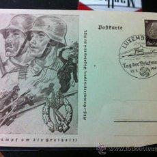 Militaria: FOTO POSTAL ALEMANA FRANQUEADA 1941 LUXEMBURGO. Lote 36523366
