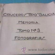 Militaria: FOTOGRAFÍAS BLANCO Y NEGRO 1933 CRUCERO TIPO GALICIA MEMORIA Nº 3. BUQUE MILITAR.. Lote 36493044