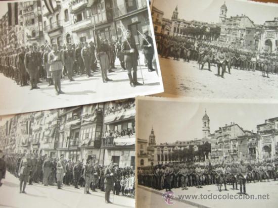 4 FOTOGRAFIAS DE LA CELEBRACION EN VITORIA DEL ALZAMIENTO NACIONAL 1938 - GUERRA CIVIL - PAIS VASCO (Militar - Fotografía Militar - Guerra Civil Española)