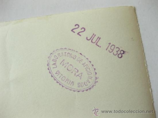 Militaria: 4 FOTOGRAFIAS DE LA CELEBRACION EN VITORIA DEL ALZAMIENTO NACIONAL 1938 - GUERRA CIVIL - PAIS VASCO - Foto 2 - 36753624