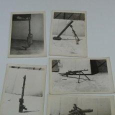 Militaria: LOTE DE 5 FOTOGRAFIAS DE ARMAMENTO ESPAÑOL, MARCADAS DE 1966. Lote 36856760