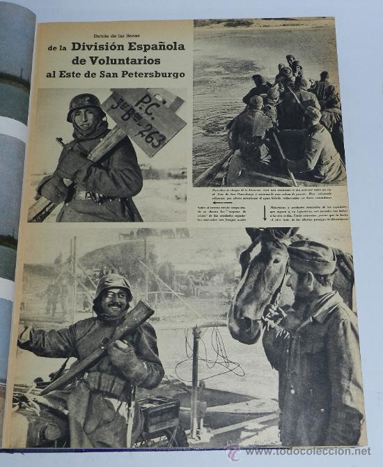 TOMO ENCUADERNADO CN 15 REVISTAS SIGNAL, DIVISION AZUL, II GUERRA MUNDIAL, DESDE LA NUM. 1 DE 1942 A (Militar - Fotografía Militar - II Guerra Mundial)