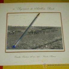 Militaria: 10º REGIMIENTO ARTILLERIA PESADA DE CUARTE-HUESCA, ESCUELAS PRACTICAS DEL 1923. Lote 37127701