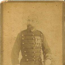Militaria: FOTOGRAFÍA DE TENIENTE CORONEL - FOTÓGRAFO L. SÁNCHEZ - VALENCIA - SIGLO XIX. Lote 37162121