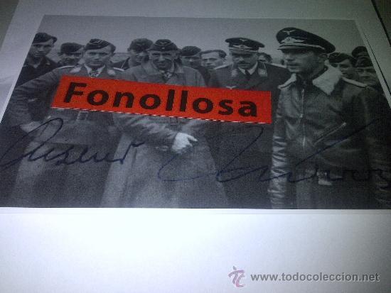FOTO FIRMADA POR EL PILOTO WERNER MOLDERS (Militar - Fotografía Militar - II Guerra Mundial)