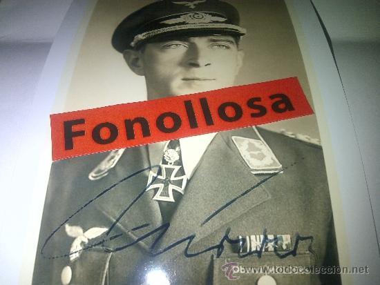 FOTO Y AUTOGRAFO DE WERNER MOLDERS 13X18 CMS (Militar - Fotografía Militar - II Guerra Mundial)