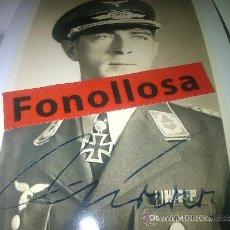 Militaria: FOTO Y AUTOGRAFO DE WERNER MOLDERS 13X18 CMS. Lote 70358239