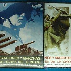 Militaria: CANCIONES Y MARCHAS MILITARES DEL III REICH Y LA UNIÓN SOVIÉTICA - DOCUMENTAL FOTOGRÁFICO-MUSICAL. Lote 89738787