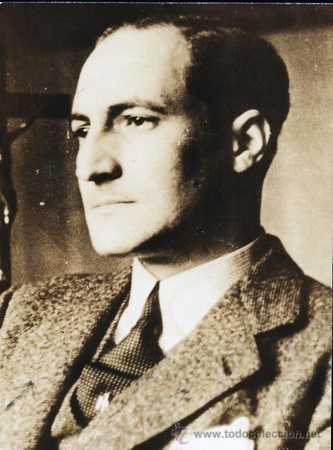 DAVID SEYMOUR CHIM. EL LEHENDAKARI JOSE ANTONIO AGUIRRE 1937. VINTAGE GUERRA CIVIL (Militar - Fotografía Militar - Guerra Civil Española)