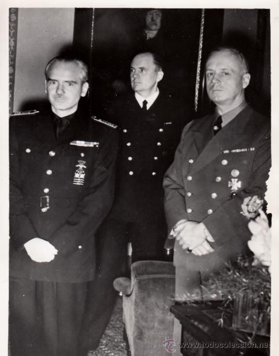 SERRANO SUÑER PREPARA CON VON RIBBENTROP ENTREVISTA FRANCO-HITLER EN HENDAYA ORIGINAL DE ÉPOCA - CLC (Militar - Fotografía Militar - II Guerra Mundial)