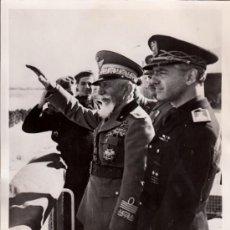 Militaria: SERRANO SUÑER Y EL MARISCAL DE BONO TRAS LA ENTREVISTA ENTRE FRANCO Y HITLER ORIGINAL DE ÉPOCA - CLC. Lote 37460604