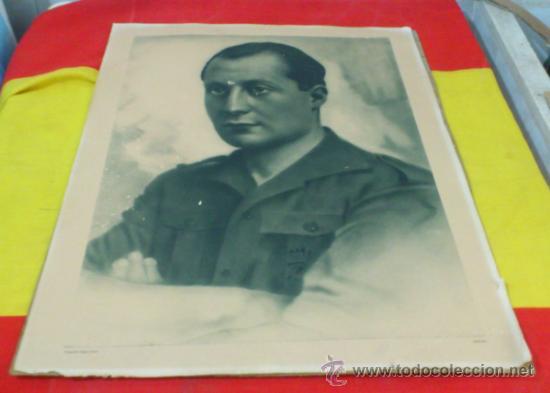JOSE ANTONIO FALANGE, RETRATO OFICIAL EN COLEGIO, AYUNTAMIENTO, CUARTELES, ANGEL CORTES (Militar - Fotografía Militar - Otros)