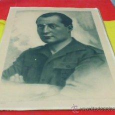 Militaria: JOSE ANTONIO FALANGE, RETRATO OFICIAL EN COLEGIO, AYUNTAMIENTO, CUARTELES, ANGEL CORTES. Lote 37753539