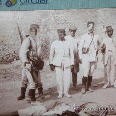 Militaria: FOTO INEDITA DE LA GUERRA DE AFRICA,MILITARES ESPAÑOLES CON MOROS MUERTOS,LAS FOTOS LAS HE RETOCADO . Lote 38036598