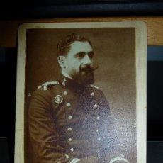 Militaria: ANTIGUA FOTOGRAFIA DE TENIENTE DE INGENIEROS, 12 X 9 CM.. Lote 38025831