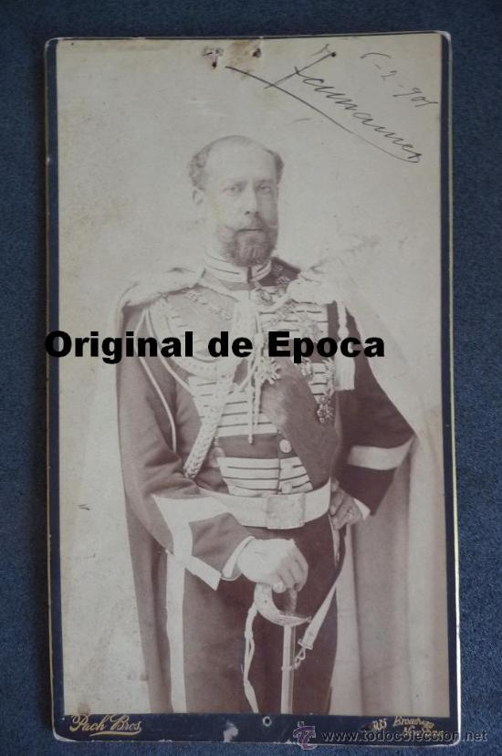 (JX-983)FOTOGRAFIA DE D.JOSE MARIA MESIAS DEL BARCO Y FITZ JAMES STUART,V DUQUE DE TAMAMES AÑO 1901 (Militar - Fotografía Militar - Otros)
