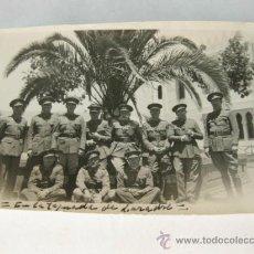 Militaria: LARACHE FOTOGRAFIA DE LOS AÑOS 30 DE UN GRUPO DE OFICIALES DE CABALLERIA. Lote 38215922