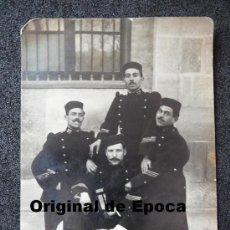 Militaria: (JX-1000)FOTOGRAFIA DE SARGENTOS DE INFANTERIA REG.Nº57 EPOCA ALFONSINA. Lote 38405381