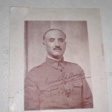 Militaria: FOTOGRAFÍA GONZALO QUEIPO DE LLANOS CON FIRMA. GOLPE DE ESTADO O ALZAMIENTO. 18 JULIO 1936. GRANDE.. Lote 38536444