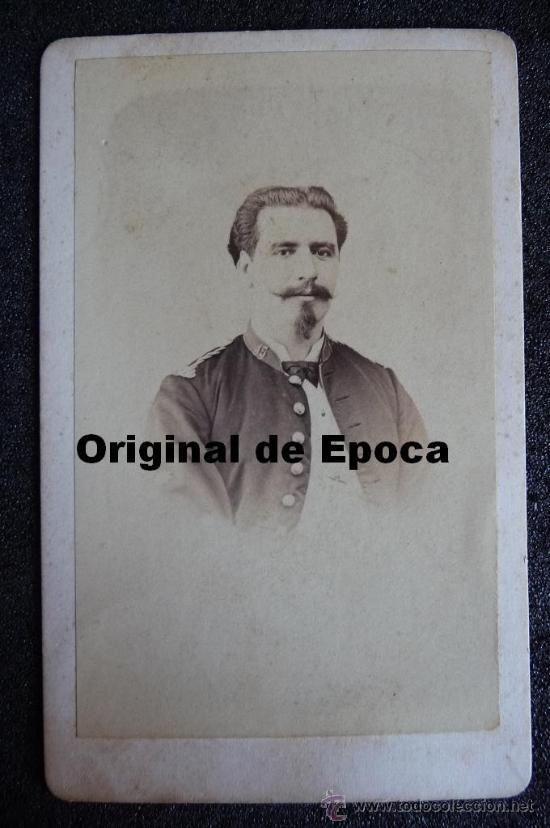 (JX-1020)FOTOGRAFIA DE OFICIAL DE LA GUARDIA CIVIL,SIGLO XIX,REALIZADA EN BARCELONA (Militar - Fotografía Militar - Otros)