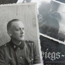Militaria: 2 FOTOGRAFIAS WAFFEN SS TOTENKOPF SEGUNDA GUERRA MUNDIAL. Lote 38840373