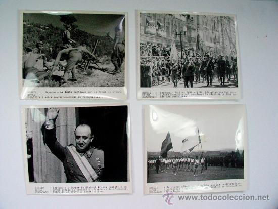 LOTE DE 11 FOTOGRAFIAS DE LA GUERRA CIVIL AGENCIA HAVAS ORIGINAL VINTAGE (Militar - Fotografía Militar - Guerra Civil Española)