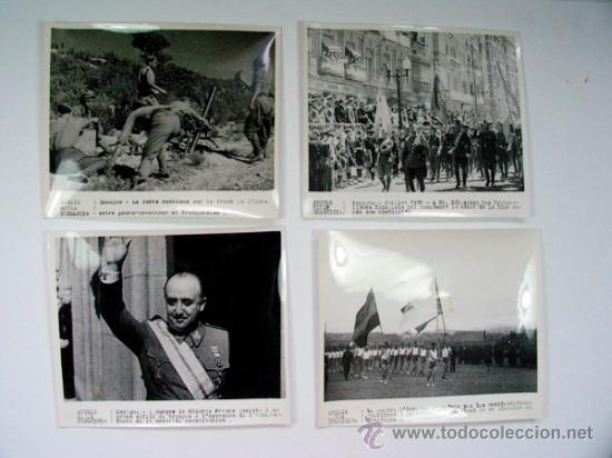 Militaria: LOTE DE 11 FOTOGRAFIAS DE LA GUERRA CIVIL AGENCIA HAVAS ORIGINAL VINTAGE - Foto 2 - 39075510