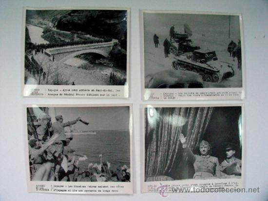 Militaria: LOTE DE 11 FOTOGRAFIAS DE LA GUERRA CIVIL AGENCIA HAVAS ORIGINAL VINTAGE - Foto 3 - 39075510