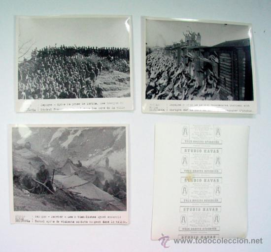 Militaria: LOTE DE 11 FOTOGRAFIAS DE LA GUERRA CIVIL AGENCIA HAVAS ORIGINAL VINTAGE - Foto 4 - 39075510