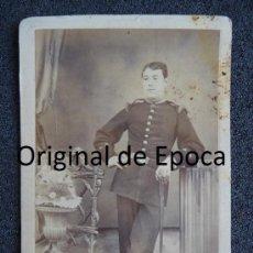 Militaria: (JX-1043)FOTOGRAFIA DE OFICIAL DE INFANTERIA DEL SIGLO XIX. Lote 39132656